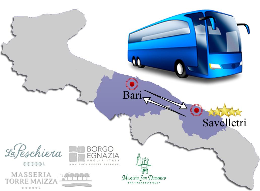 Bus transfer Savelletri Hotel
